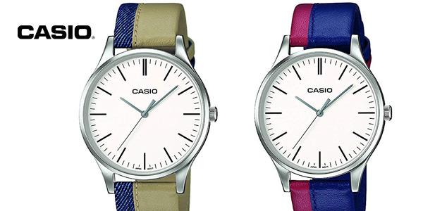 Reloj Casio Collection MTP-E133L-2EEF correa bicolor para hombre barato en Amazon