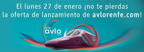 Renfe Avlo promoción enero 2020