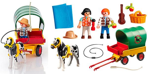 Set Picnic con Poni y Carro de Playmobil con 3 figuras barato