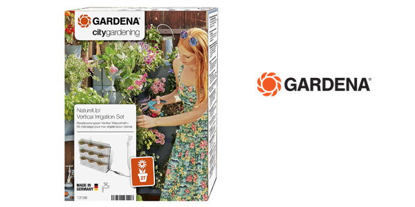 Kit riego jardín vertical Gardena Nature Up! barato en Amazon