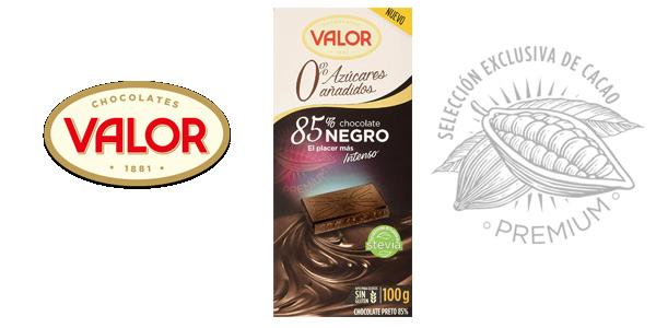 Tableta Chocolate Negro Valor 85% con 0% Azúcares Añadidos de 100 gr barata en Amazon