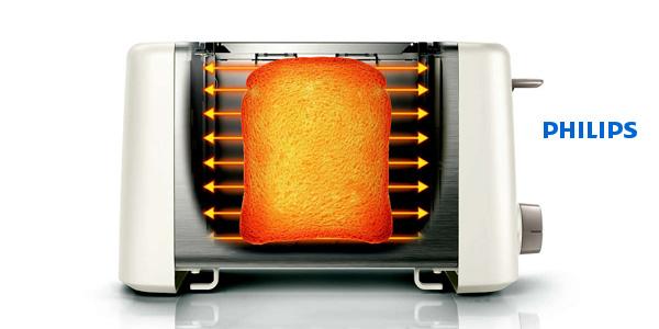 Tostador Daily Philips HD4825/00 con plataforma de calentamiento chollo en El Corte Inglés