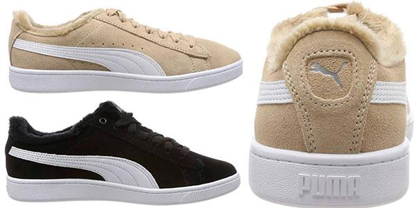Zapatillas Puma Vikky V2 Fur para mujer baratas