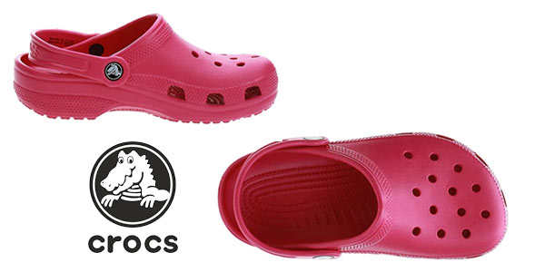 Zuecos Crocs Classic Clog Kids Roomy Fit infantiles en oferta en Amazon