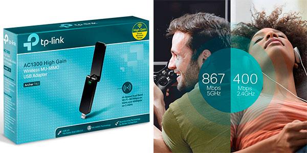 Adaptador Wi-Fi dual TP-Link Archer T4U USB 3.0 de 1.300 Mbps barato