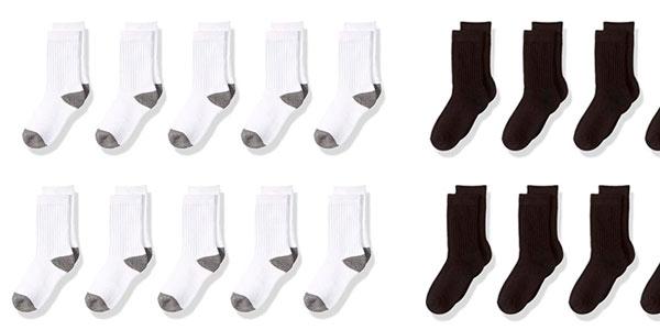 Pack de 10 pares de calcetines infantiles Amazon Essentials baratos