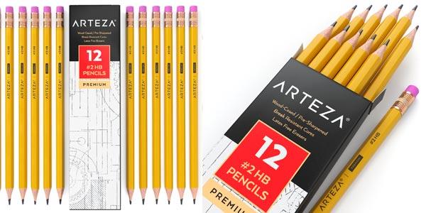 Pack 48 lápices Arteza con goma de borrar en oferta en Amazon