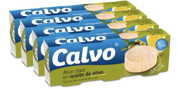 Pack latas de atún claro Calvo en aceite de oliva barato