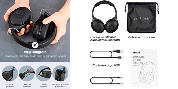 Auriculares Bluetooth Mpow H17 en oferta en Amazon