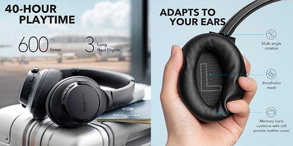 Auriculares Bluetooth Soundcore Life Q20 con cancelación de ruido activa y 30 horas de batería baratos