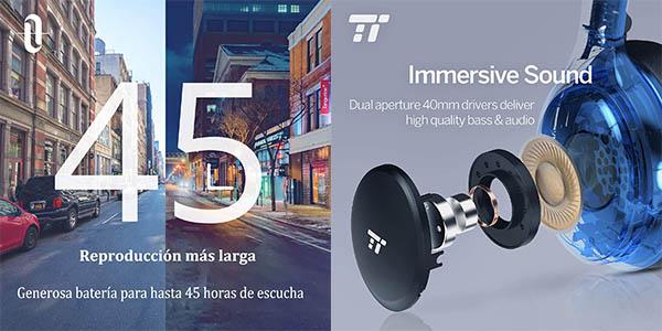 auriculares de diadema TaoTronics relación calidad-precio estupenda