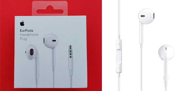 Auriculares EarPods de Apple con clavija de 3,5 mm baratos
