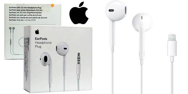 Auriculares Apple EarPods con clavija de 3,5 mm o con conector Lightning