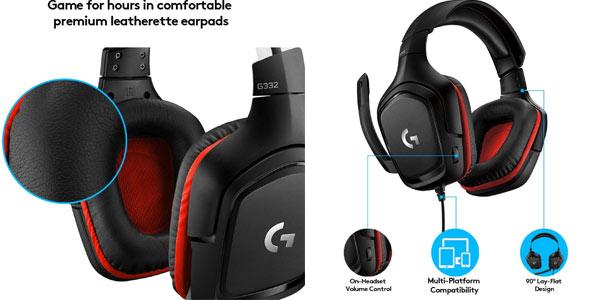 Auriculares gaming Logitech G332 en oferta Amazon