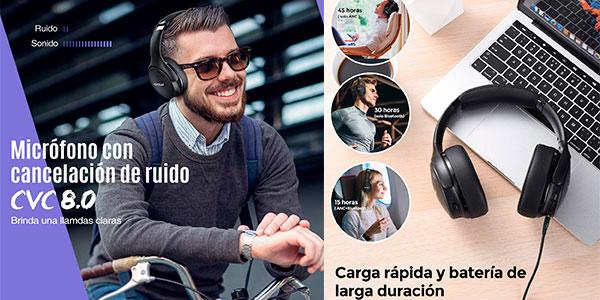 Auriculares Mpow H19 IPO con Bluetooth 5.0 y cancelación de ruido baratos