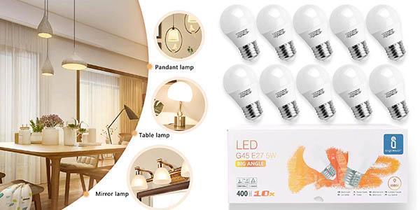 Bombillas LED Aigostar E27 G45 pack ahorro