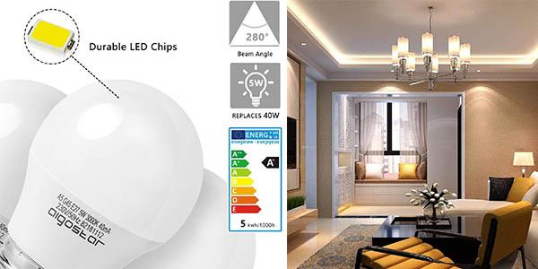 bombillas LED E27 G45 Aigostar chollo
