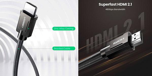 Cable Ugreen HDMI 2.1 certificado 8K y 4K de 120 Hz barato