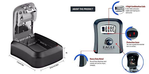 caja de contraseña de seguridad Eagle Lock chollo