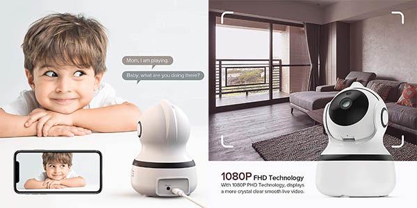 Cámara inteligente OWSOO 1080P WiFi en Amazon