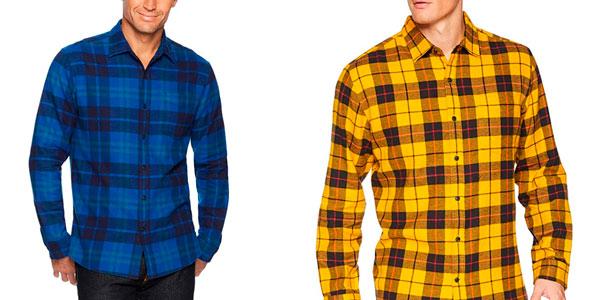 Camisa de franela a cuadros Amazon Essentials en oferta en Amazon