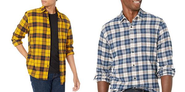 Camisas franela Amazon Essentials baratas