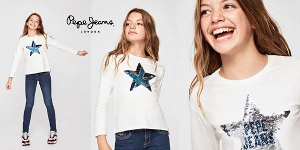 Camiseta manga larga Pepe Jeans Margaret para niña barata en Amazon