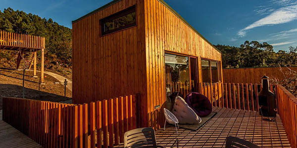 Carnota alojamiento en cabaña de diseño oferta