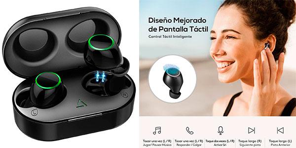 Chollo Auriculares Bluetooth Mpow Seneo impermeables con estuche de carga