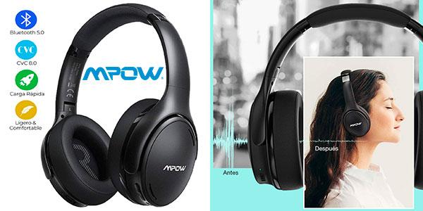 Chollo Auriculares Mpow H19 IPO con Bluetooth 5.0 y cancelación de ruido
