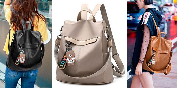 Chollo Bolso mochila antirrobo de nylon en varios modelos para mujer