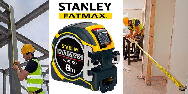 Chollo Flexómetro Stanley XTHT0-33501 AutoLock de 8 metros con gancho magnético