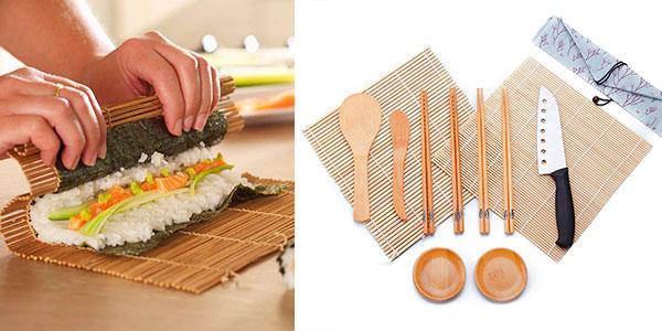Chollo Kit WeeDee de 12 piezas de bambú para hacer sushi