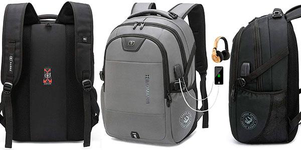 """Chollo Mochila Baomanyi de 43 litros para portátil de 17,3"""" con puerto de carga USB"""