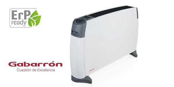 Convector portátil Gabarrón CP-2000 con 3 niveles de potencia y termostato de seguridad barato en Amazon