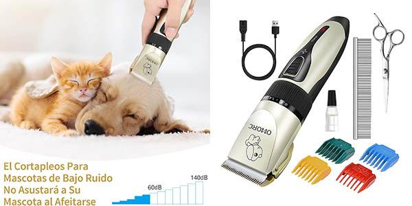 cortapelos silencioso Omorc para mascotas con cupón descuento en Amazon