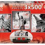 Pack x3 Puzles de 500 piezas Educa Borrás Deco de Grandes Ciudades barato en Amazon