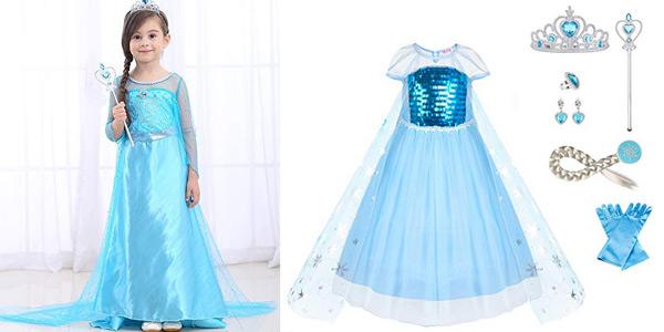 Disfraz de Princesa Elsa de Frozen y otros de Uraqt barato en Amazon