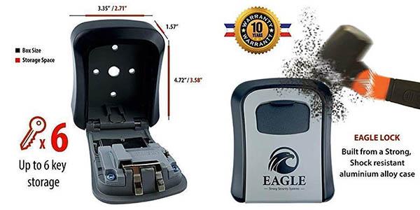 Eagle lock caja de seguridad para llaves chollo