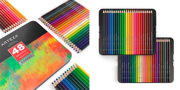 Estuche Arteza de 48 lápices de colores en oferta en Amazon