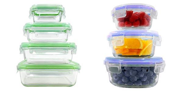 Pack de recipientes de vidrio para alimentos Home Fleek baratos en Amazon