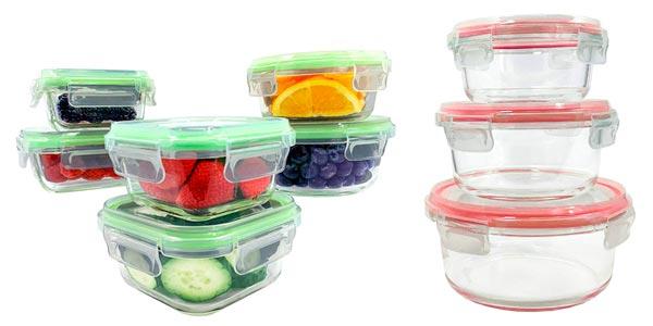 Pack de recipientes de vidrio para alimentos Home Fleek en oferta en Amazon