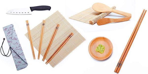 Kit WeeDee de 12 piezas de bambú para hacer sushi barato