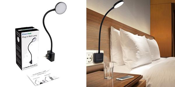 Lámpara de Noche LED Enuotek Regulable y Flexible con Enchufe e Interruptor Táctil chollo en Amazon