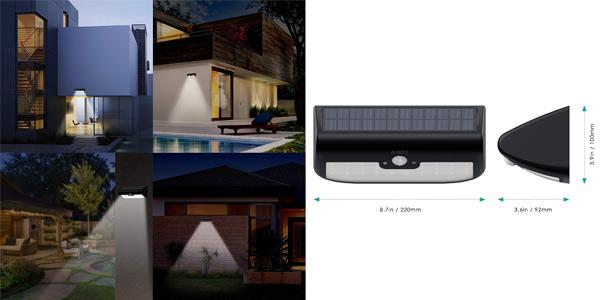 Lámpara Solar LED Aukey 38 con Sensor de Movimiento chollo en Amazon