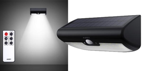 Lámpara Solar LED Aukey 38 con Sensor de Movimiento barata en Amazon