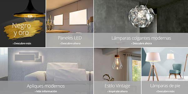 luminarias de interior con código descuento LASTCALL150