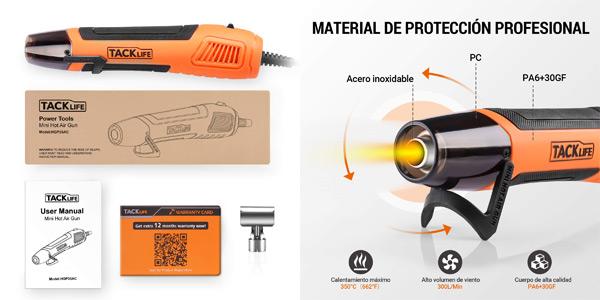 Mini Pistola de Calor Tacklife HGP35AC de 350 W chollo en Amazon
