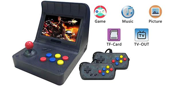 """Mini Recreativa Arcade con pantalla 4,3"""", 3000 Juegos y 2 gamepads"""