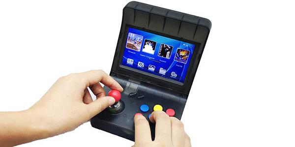 """Mini Recreativa Arcade con pantalla 4,3"""", 3000 Juegos y 2 gamepads en Amazon"""